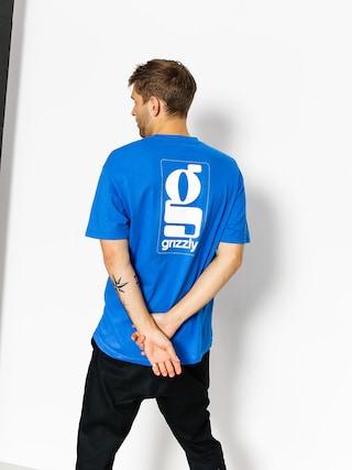 T-shirt Grizzly Griptape Gentlemans (royal blue)