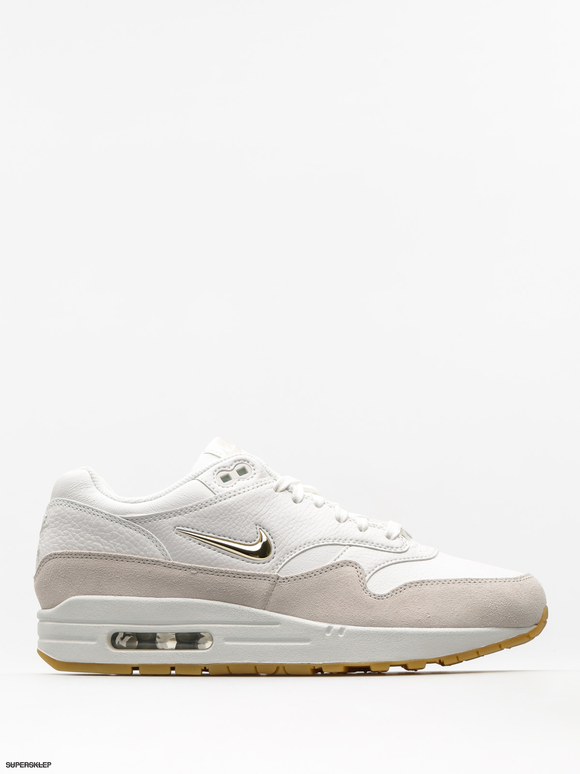 Buty Nike Air Max 1 Premium SC Wmn (summit white/mtlc gold star light bone)