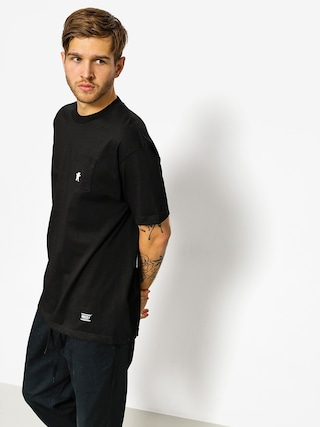 T-shirt Grizzly Griptape Embroidered Pocket (black)