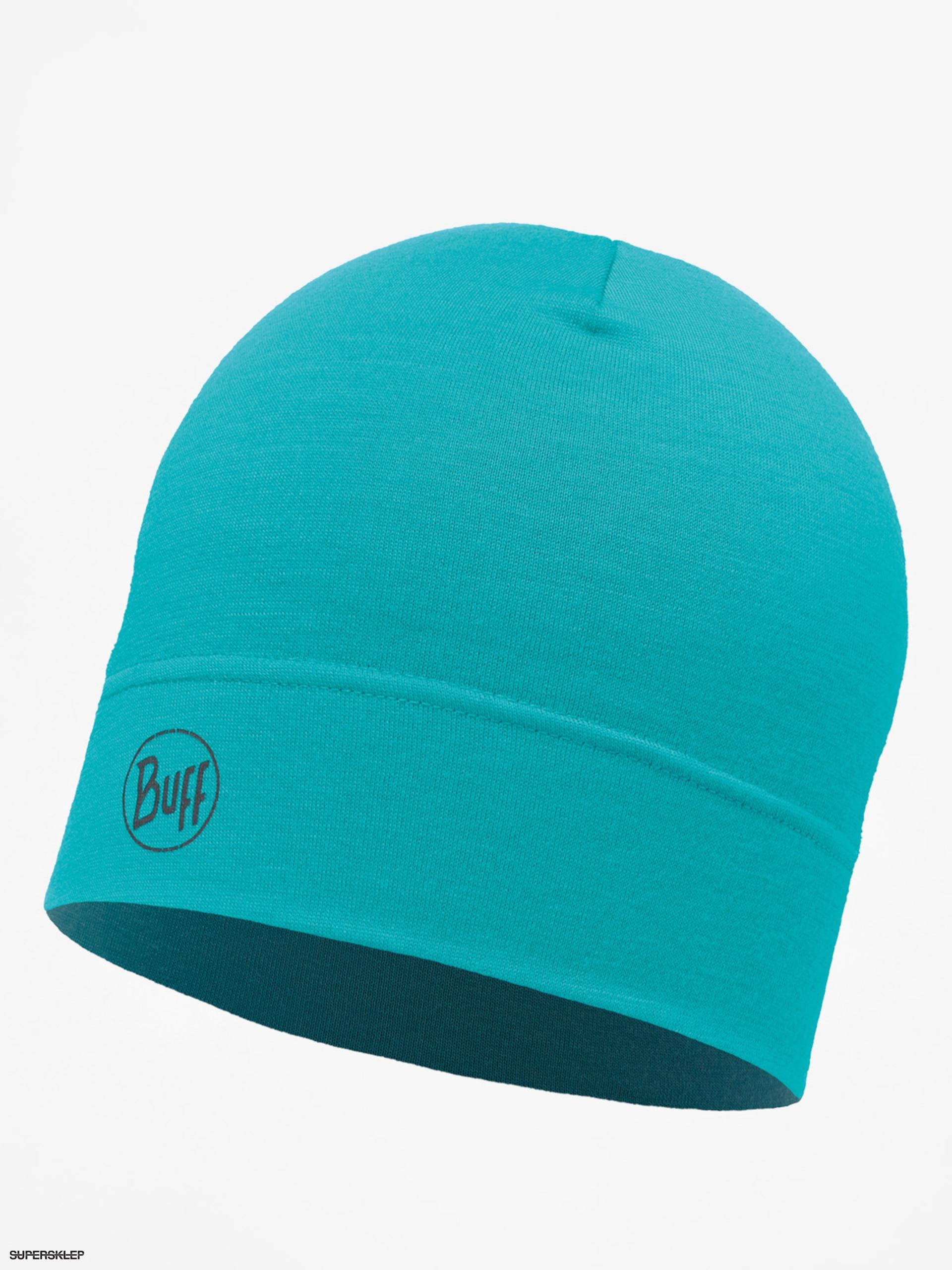 Czapka zimowa Buff Midweight Merino Wool (solid turquoise)