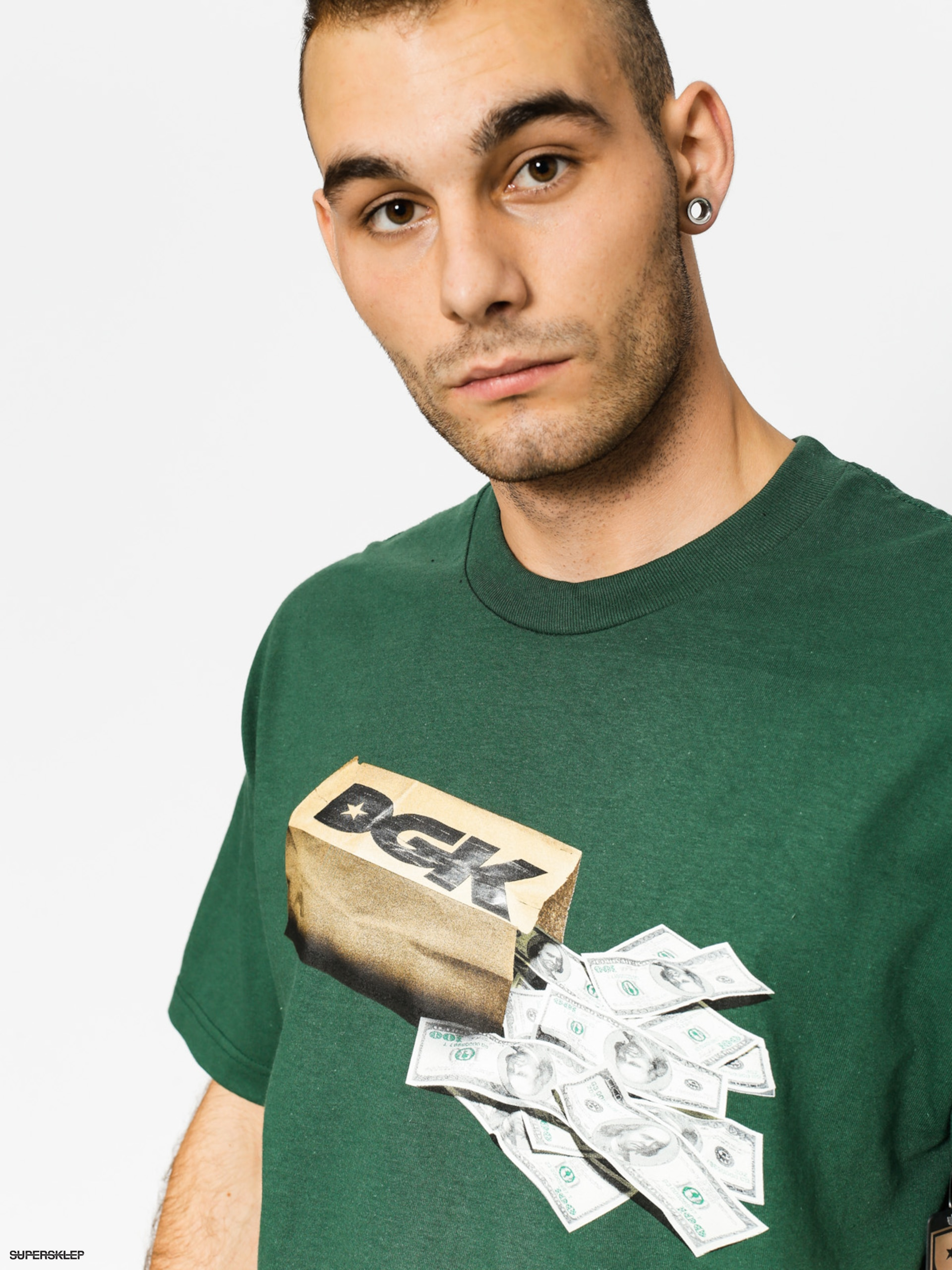T-shirt DGK Money Bag (forest green)