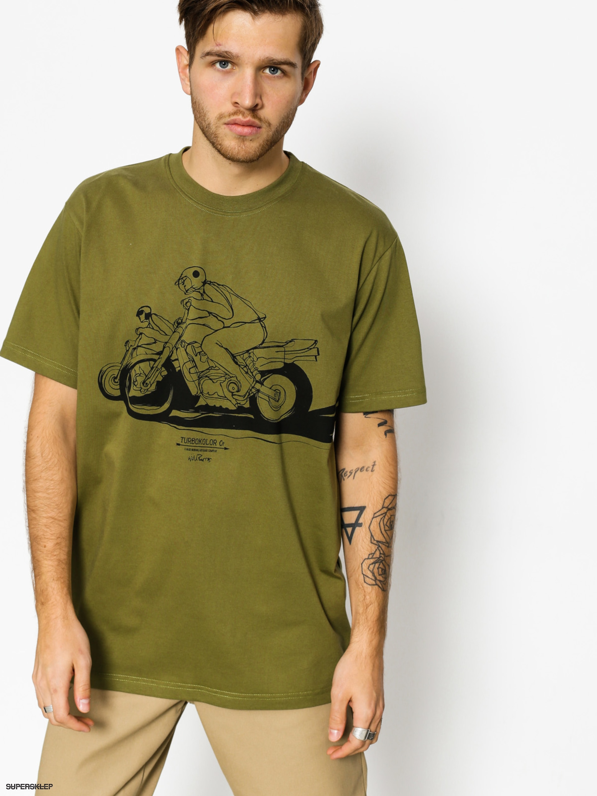 T-shirt Turbokolor Will Barras (bike khaki)