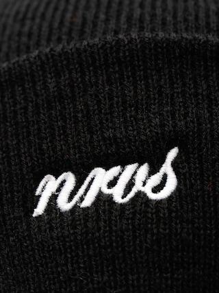 Czapka zimowa Nervous Cuff Script (black)