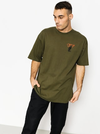 T-shirt OBEY Livin In Darkness (military olive)
