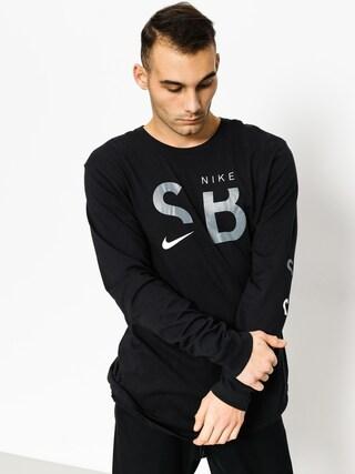 T-shirt Nike SB Sb Dry Tee Dfc Ls Brnd (black/white/cool grey)