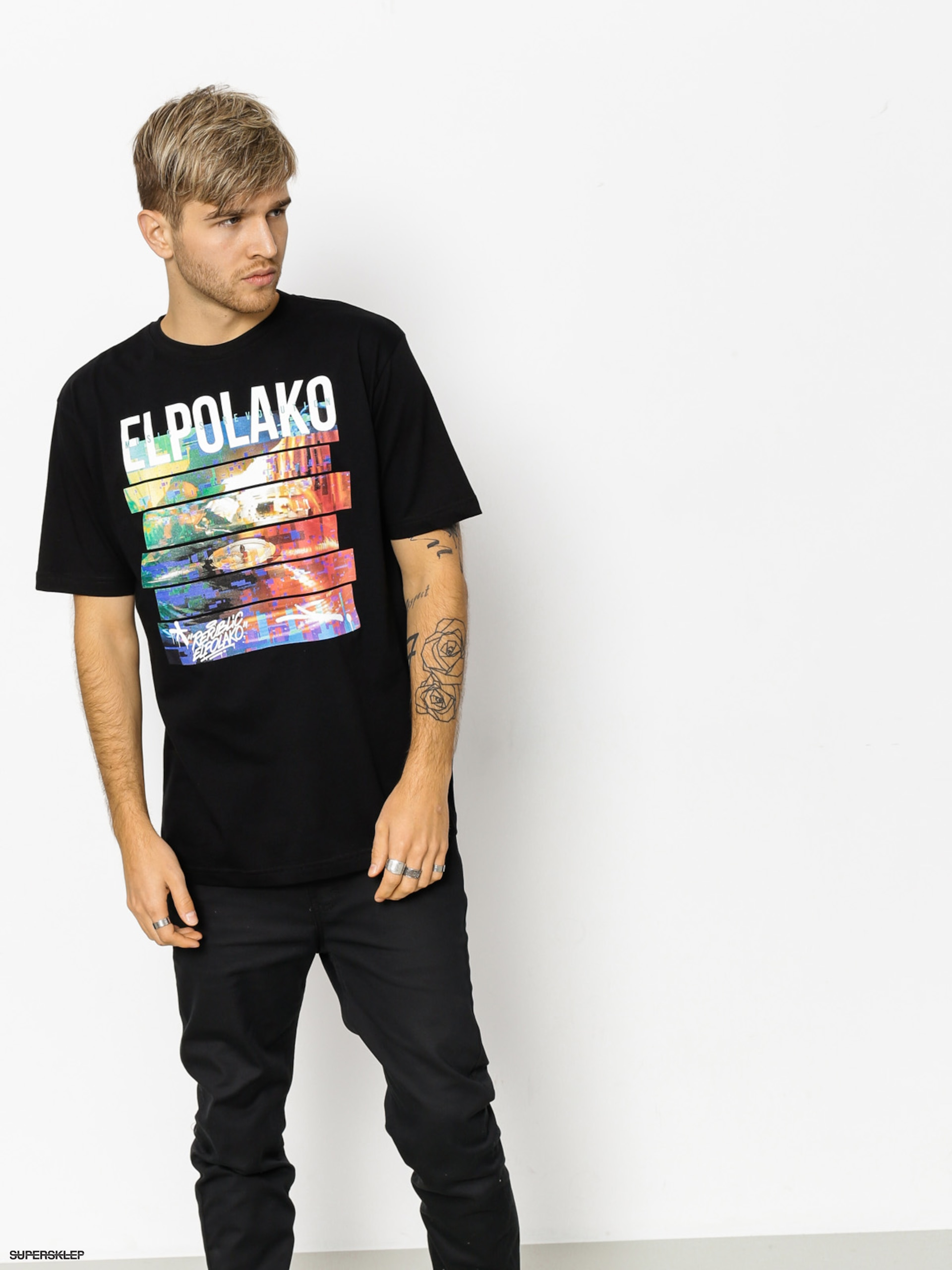 T-shirt El Polako Gramofon (black)