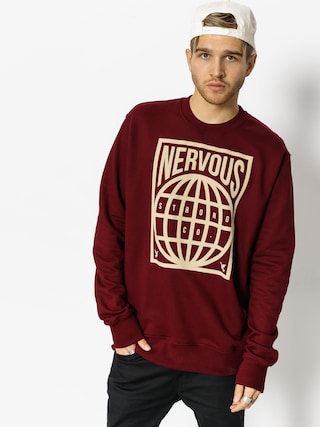 Bluza Nervous Map (maroon)