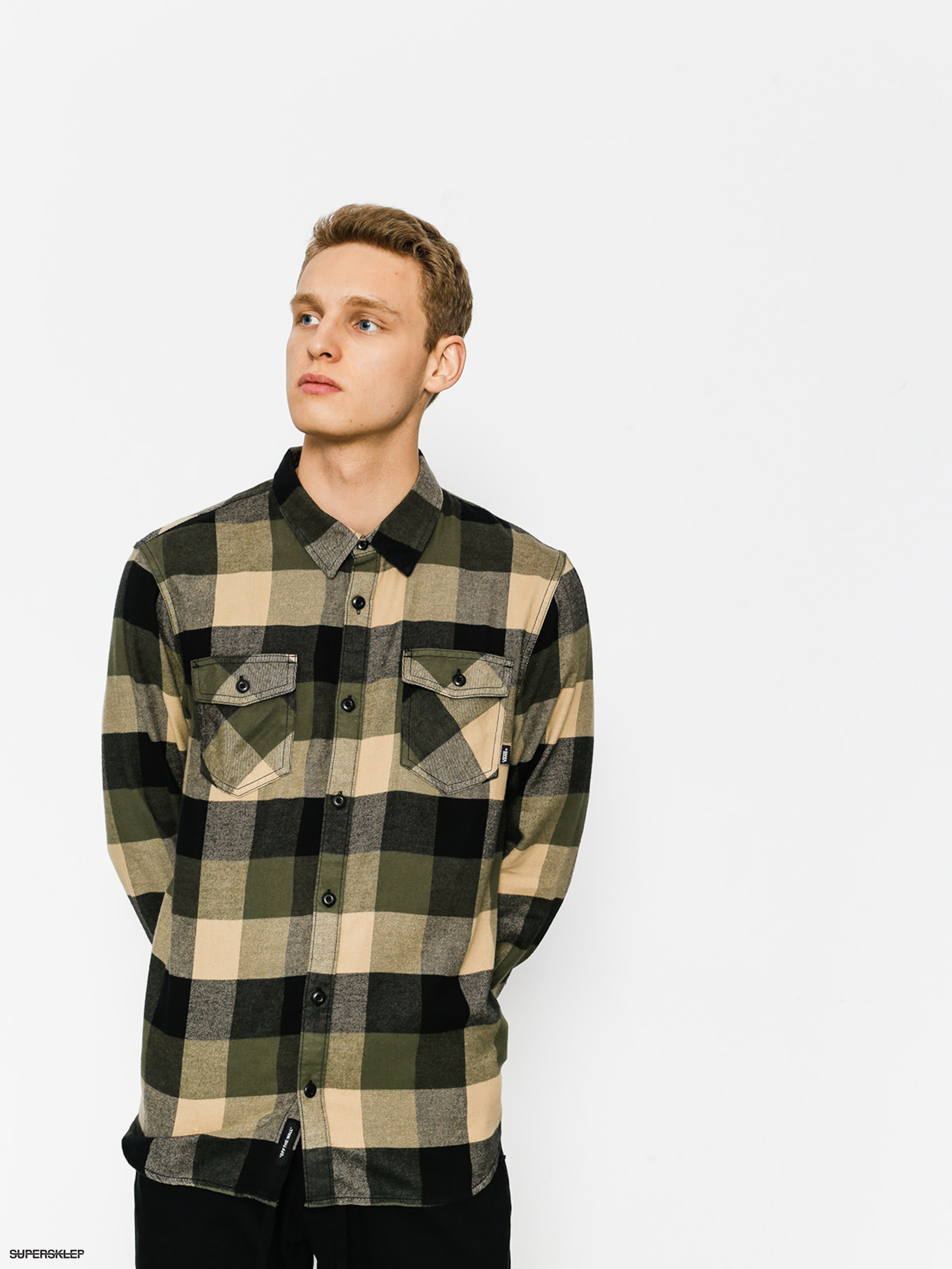 Koszula Vans Box Flannel (grape leaf khaki)