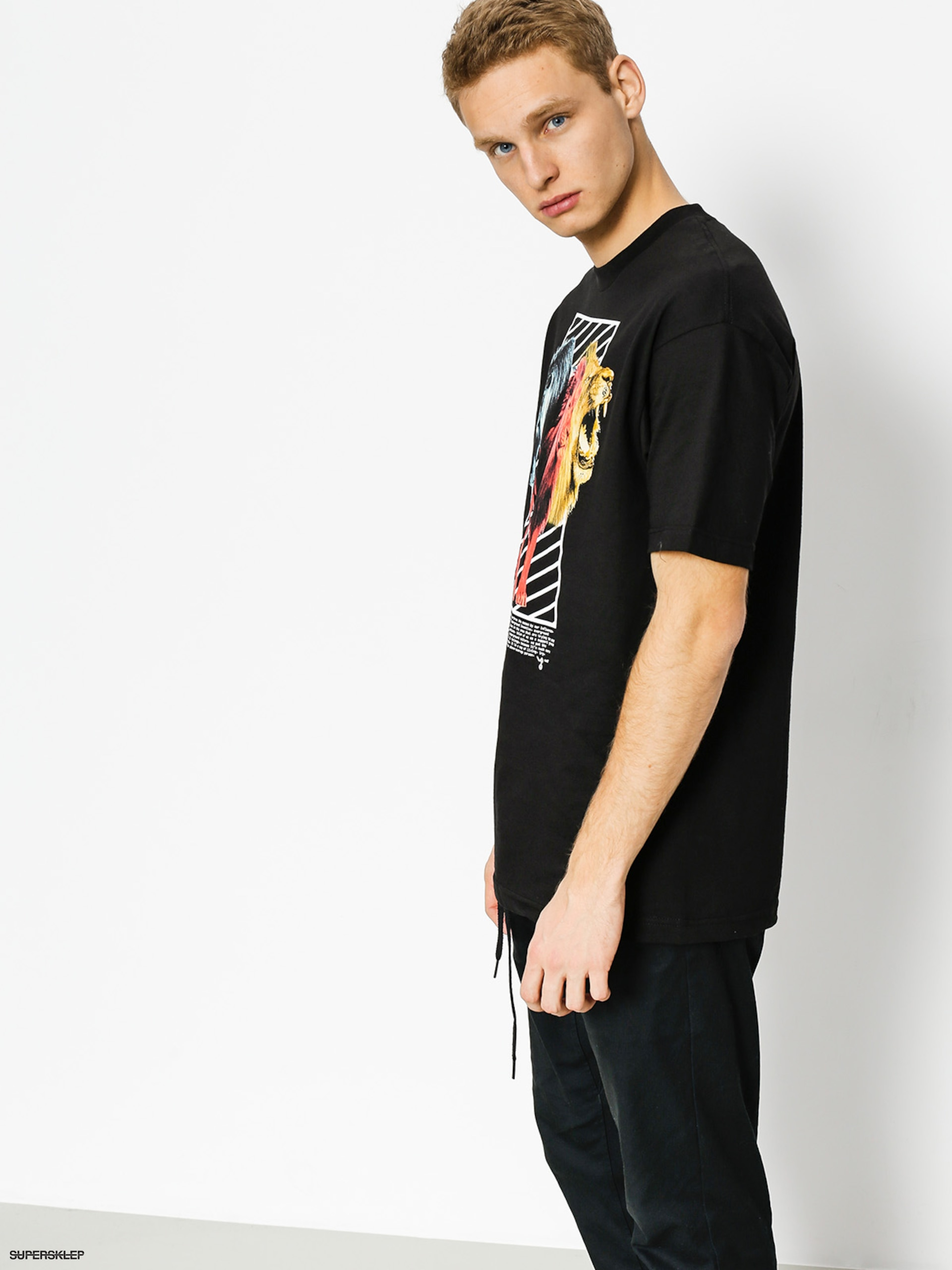 T-shirt LRG Three s A Lion (black)