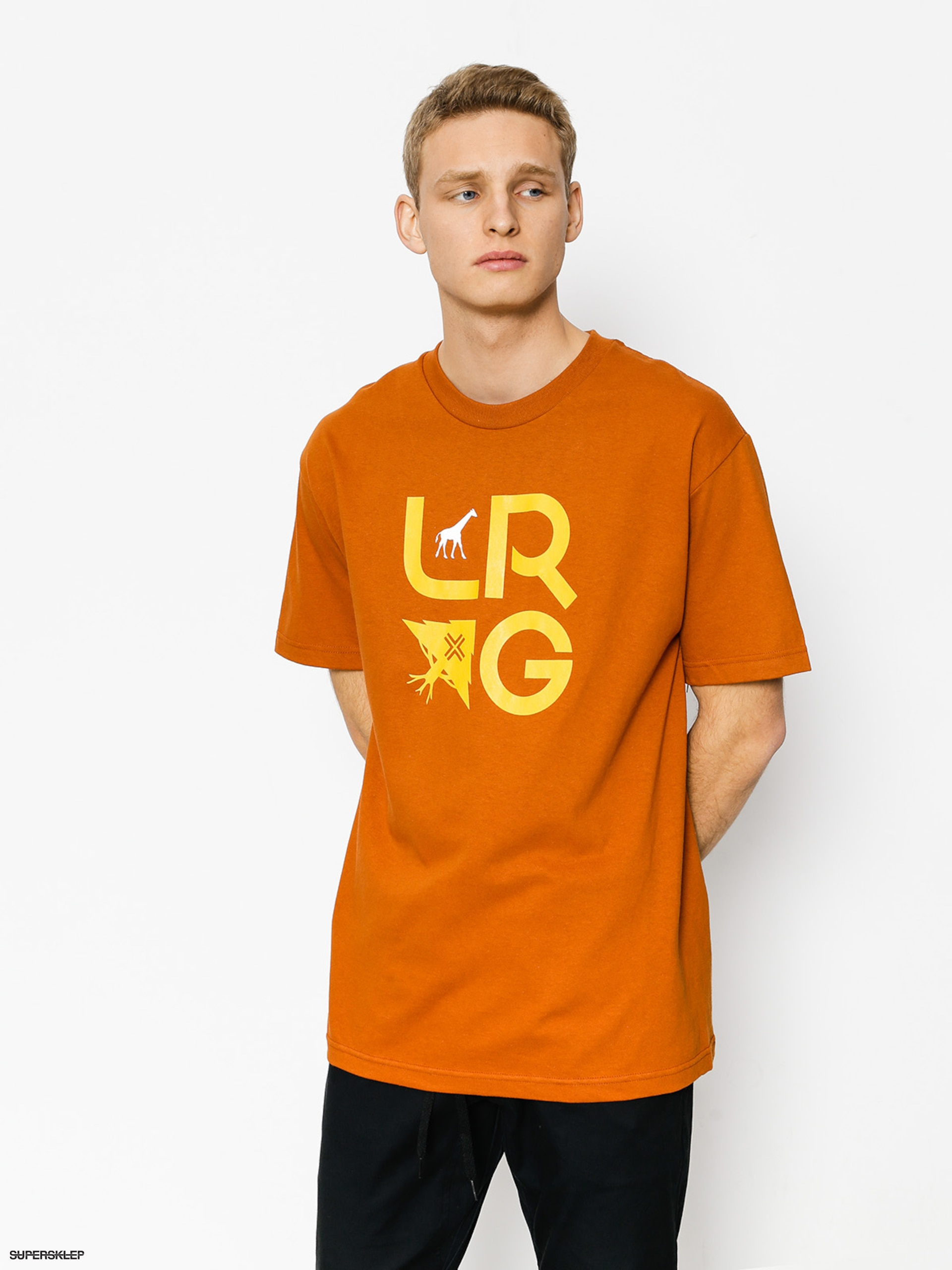 T-shirt LRG Stacked (texas orange)