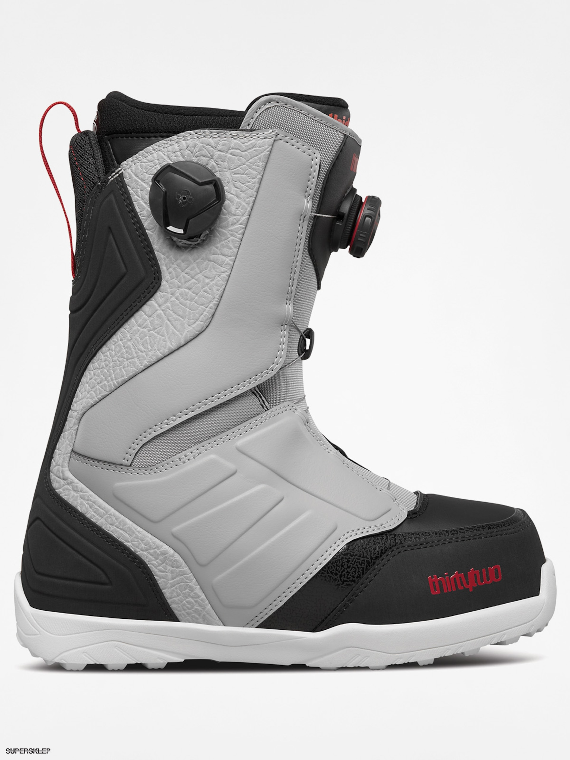 Buty snowboardowe ThirtyTwo Lashed Double Boa (grey/black/red)