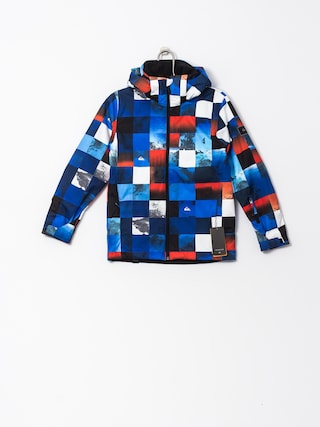 Kurtka snowboardowa Quiksilver Mission (blue red icey check)