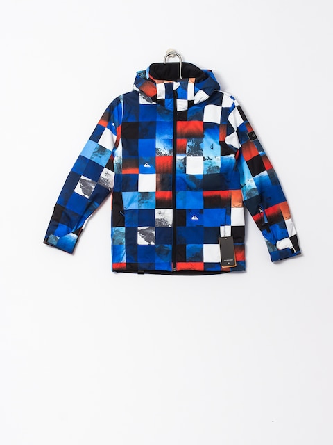 Kurtka snowboardowa Quiksilver Mission Junior (blue red icey check)