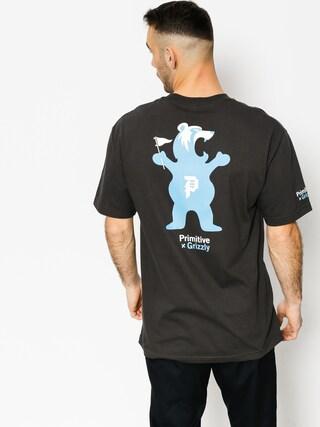 T-shirt Primitive x Grizzly Griptape Mascot (vintage black)
