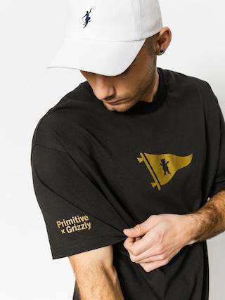 T-shirt Primitive x Grizzly Griptape Bear Pennant (vintage black)