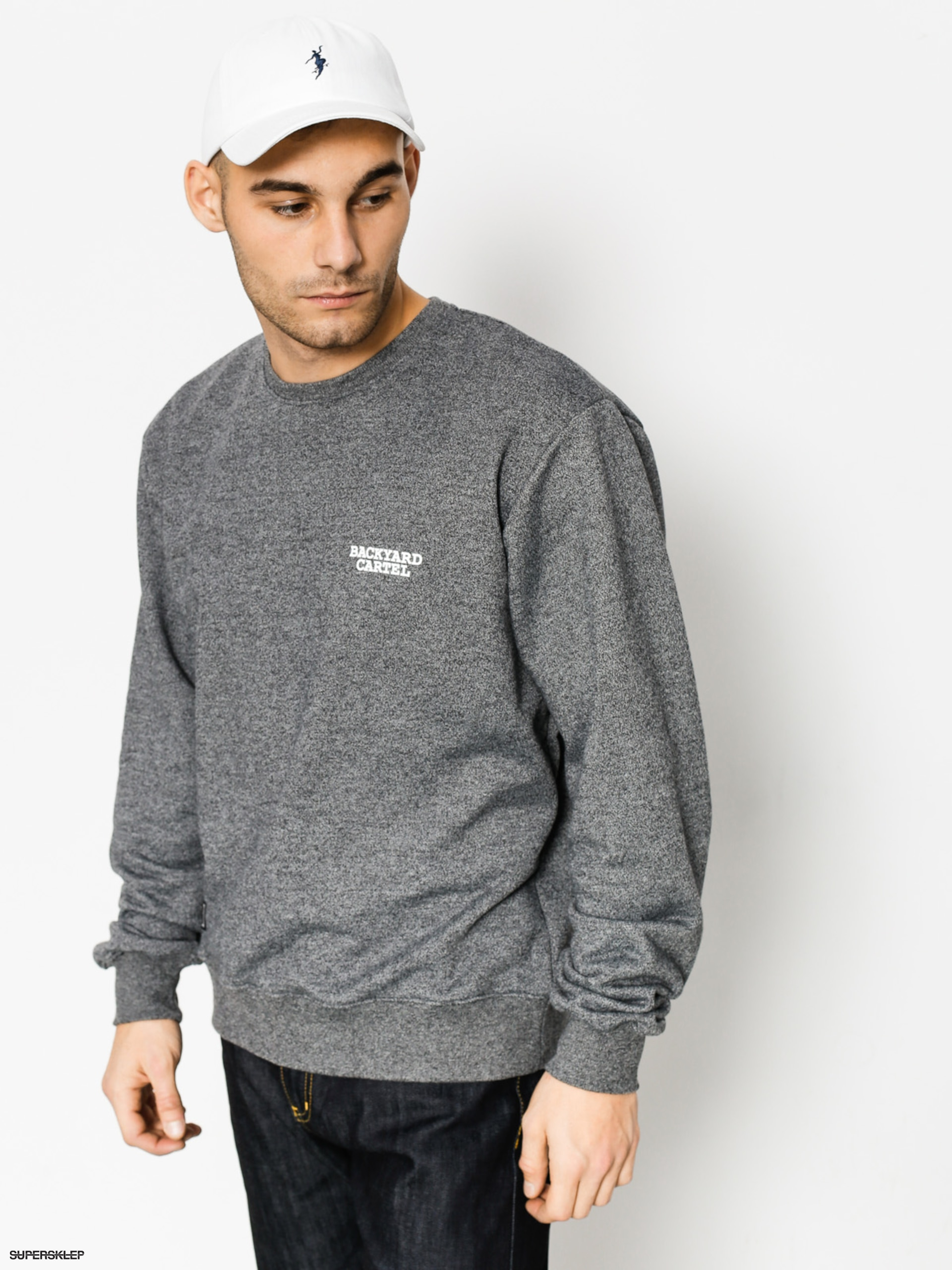 Bluza Backyard Cartel Back Label (dark heather grey)