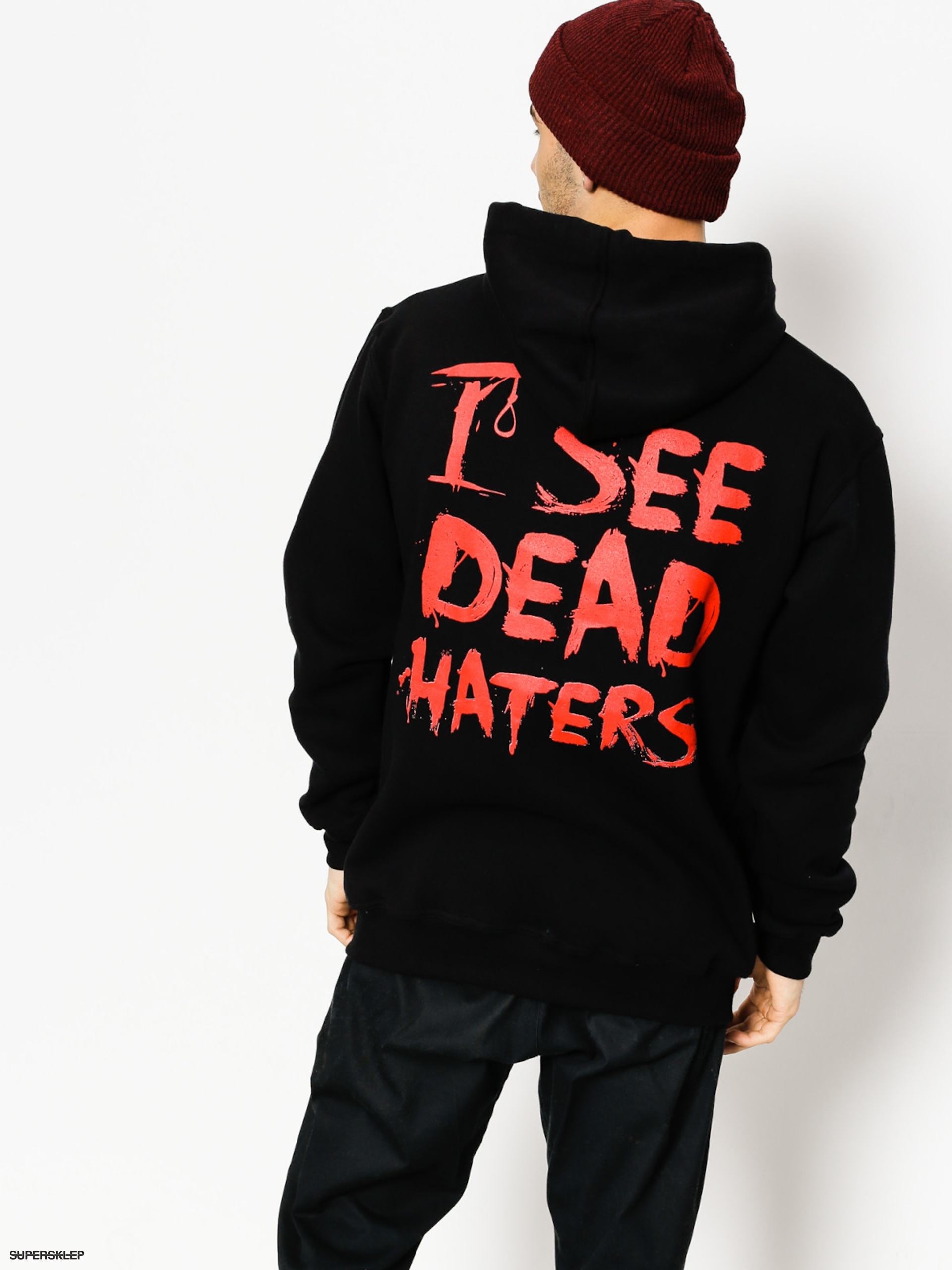 Bluza z kapturem Diamante Wear I See Dead Haters HD (black)