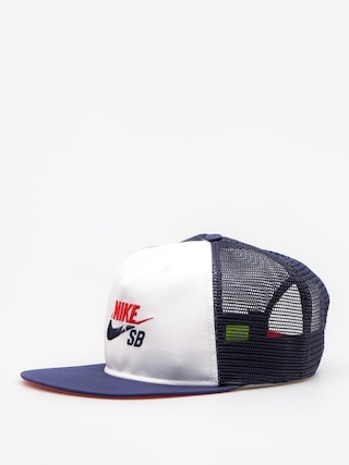 Czapka z daszkiem Nike SB Trucker ZD (white/midnight navy/university red)