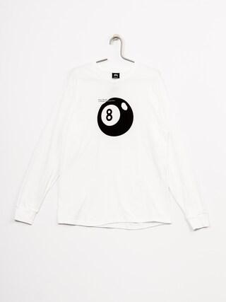 Longsleeve Stussy Bootleg 8 Ball (white)