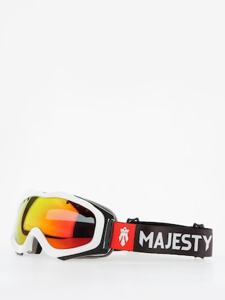Gogle Majesty Patrol (glossy white/red ruby mirror/clear amber)