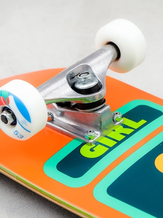 Deskorolka Girl Skateboard Biebel 93 (orange/green)
