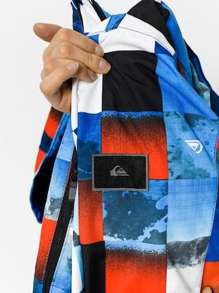 Kurtka snowboardowa Quiksilver Mission Junior (blue red icey check)