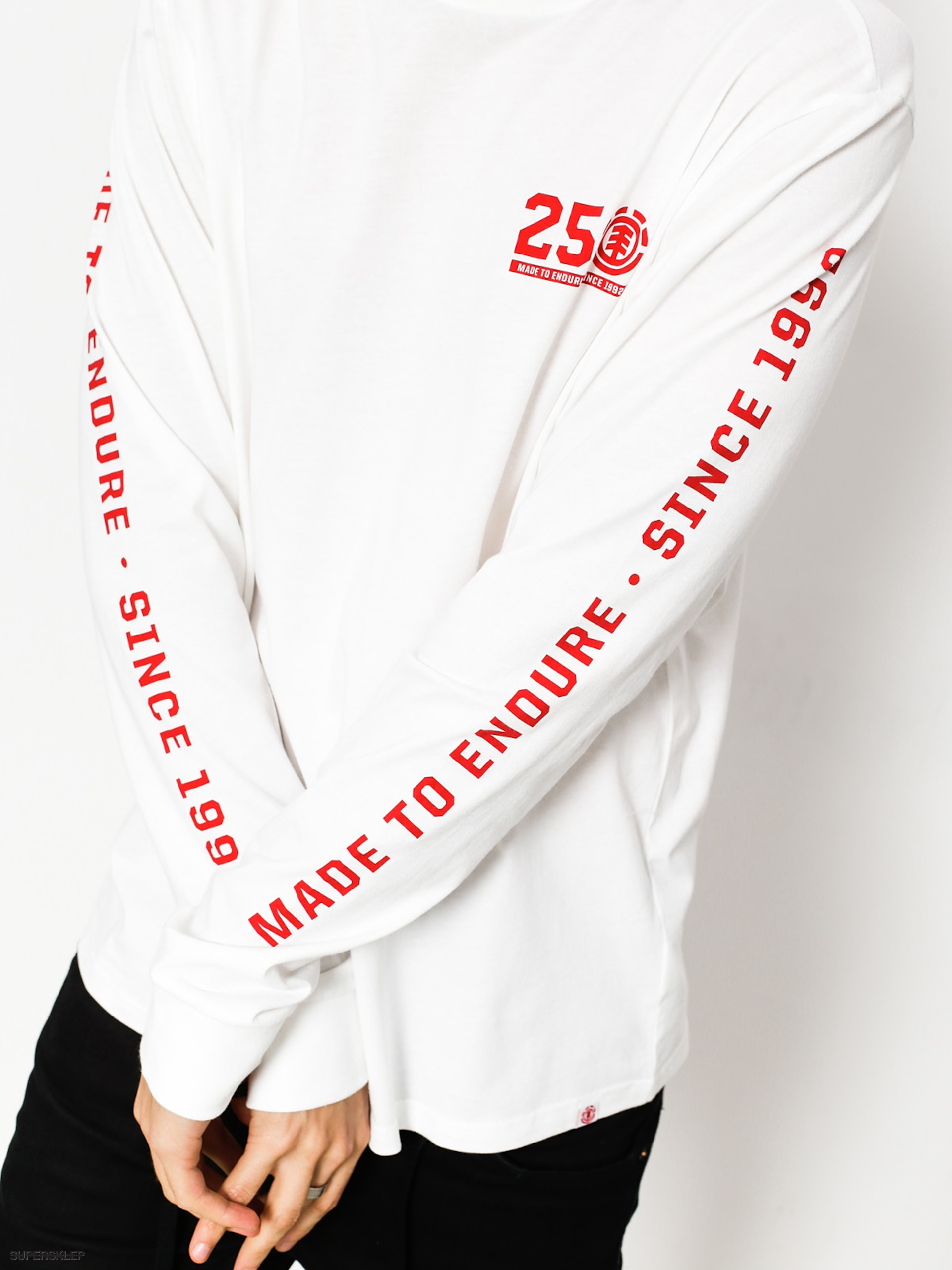 Longsleeve Element 25 Year (optic white)
