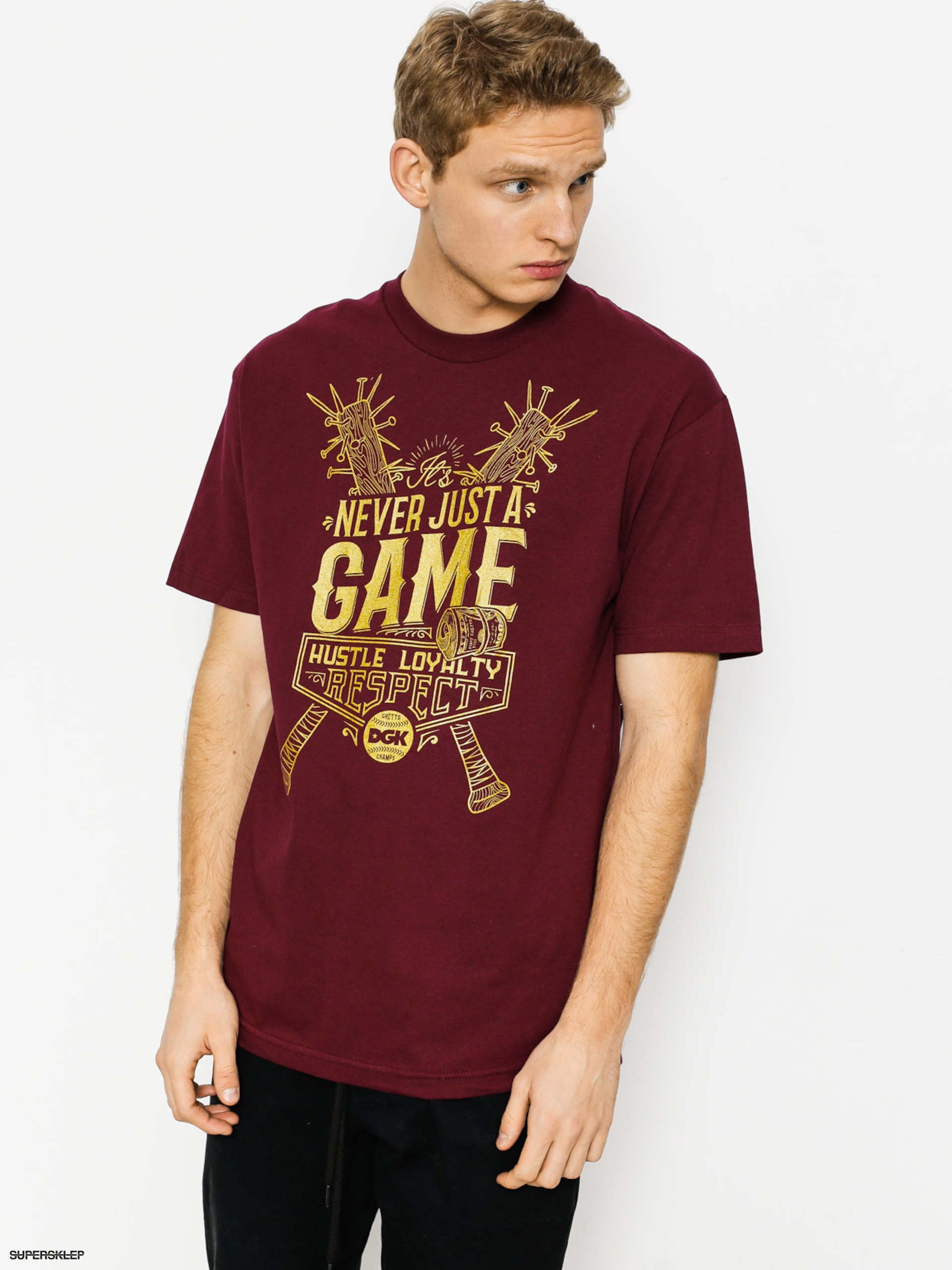 T-shirt DGK Game (burgundy)