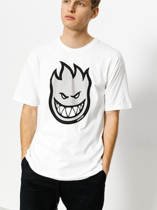 T-shirt Spitfire Big Head Fill (white/grey)