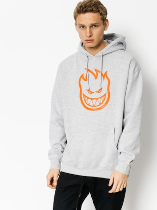 Bluza z kapturem Spitfire Big Head HD (heather/orange)
