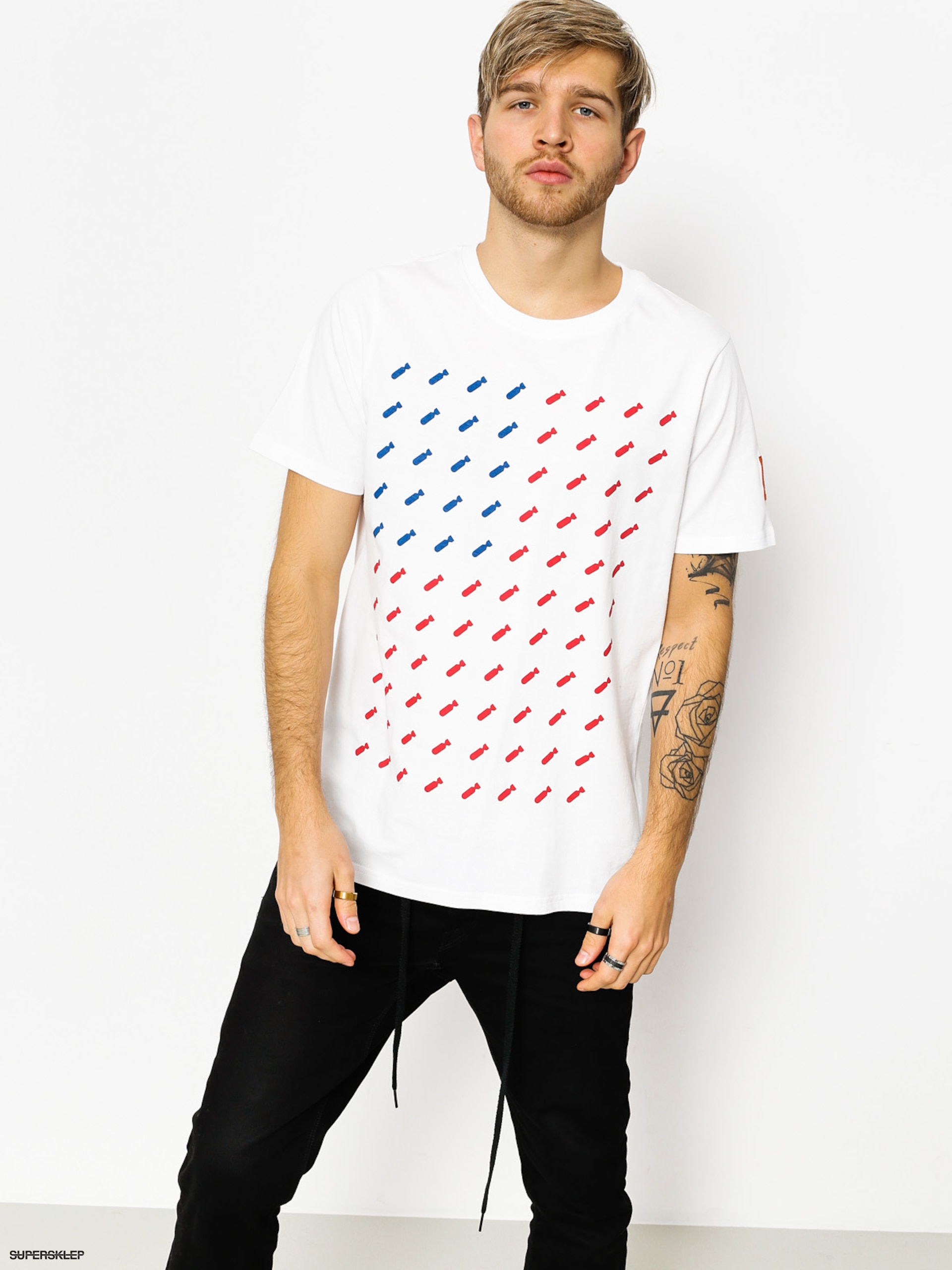 T-shirt Diamante Wear Flag 02 (white)