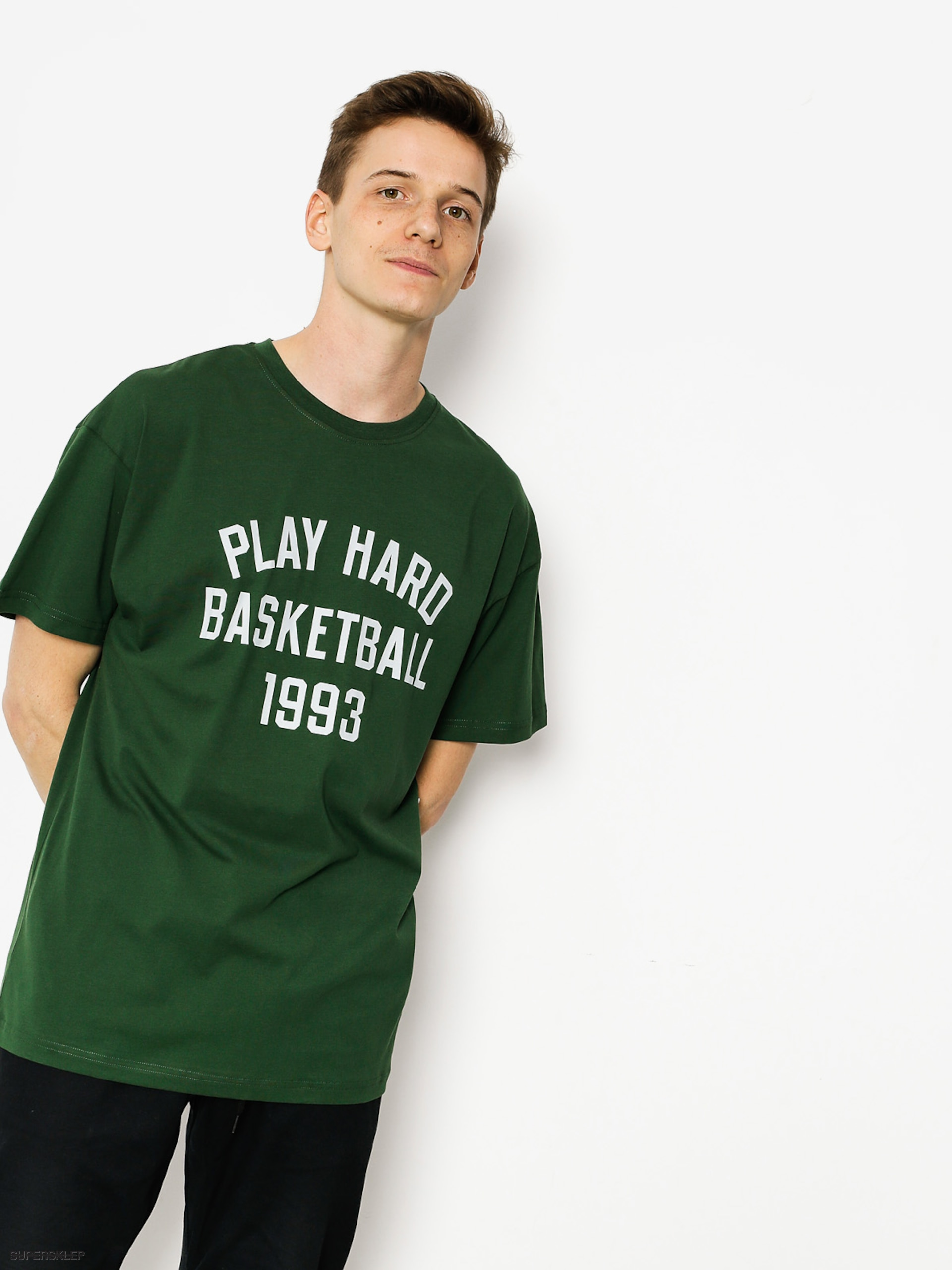 T-shirt K1x Play Hard Basketball (forest green)