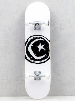 Deskorolka Foundation Star And Moon (white)