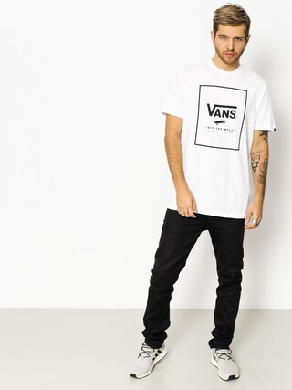 T-shirt Vans Print Box (white black)