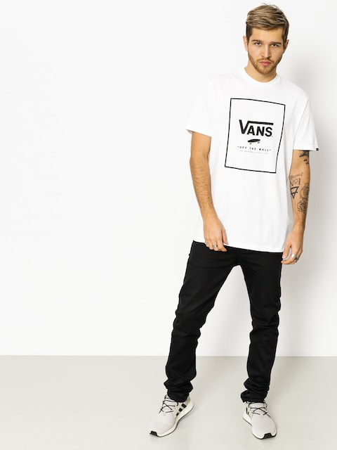 T-shirt Vans Print Box (white black)