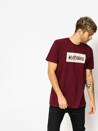 T-shirt Etnies Corp Box (burgundy)