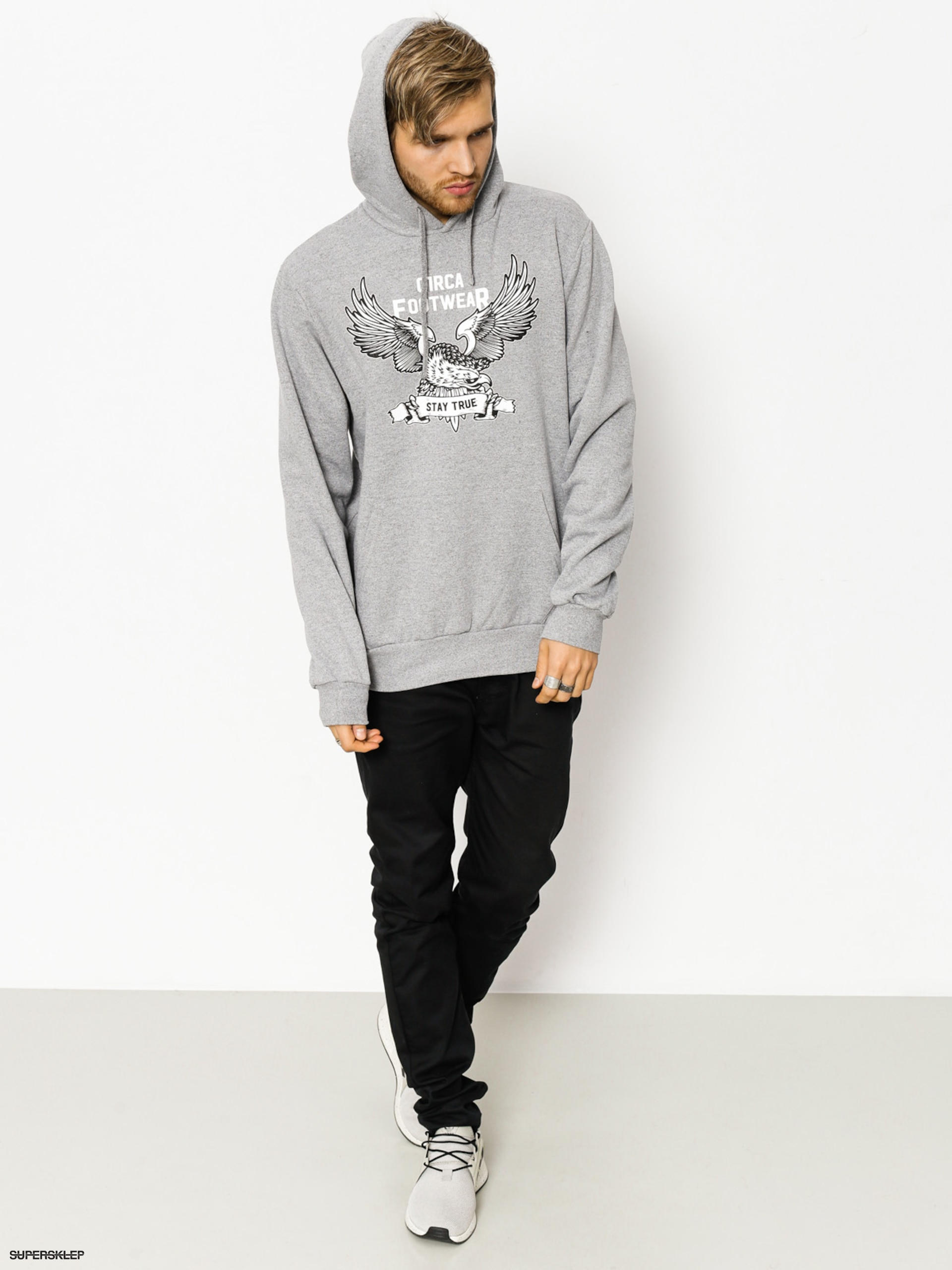 Bluza z kapturem Circa Stay True HD (athletic grey)