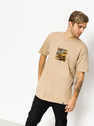T-shirt HUF Ambush Camo Box Logo (sand)