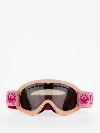 Gogle Dragon DXS (pink/dark smoke)