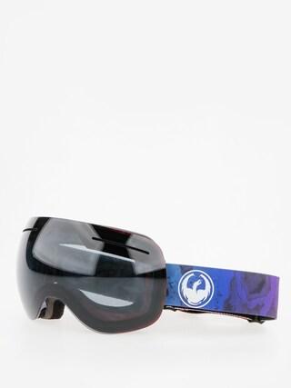 Gogle Dragon X1 (ink/dark smoke/l flash blue)