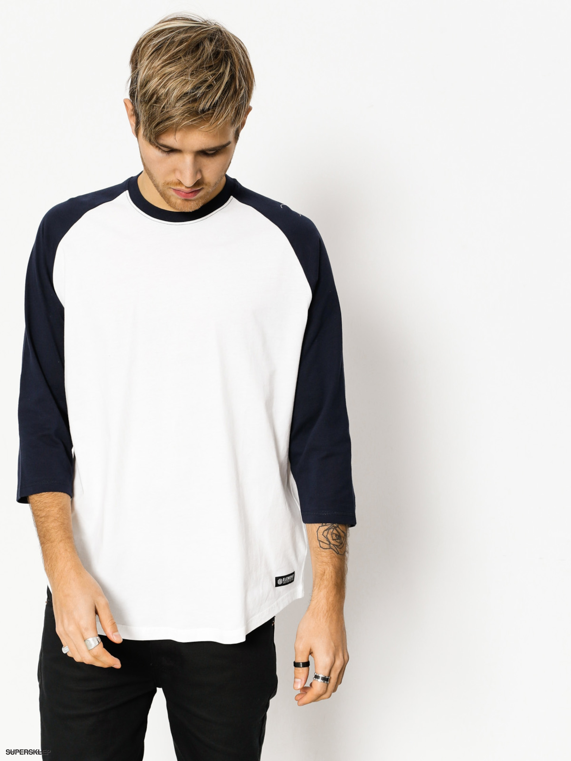 Koszulka Element Basic Raglan Qtr (optic white)