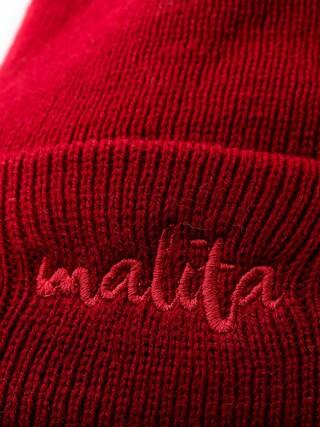 Czapka zimowa Malita Malita (maroon/maroon)