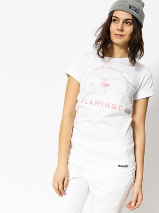 T-shirt Diamante Wear Flamingo Wmn (white)