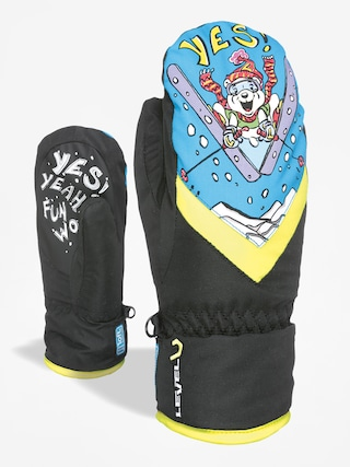 Rękawice Level Kid Mitt Gore Tex (black/yellow)