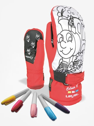Rękawice Level Pop Art Jr Mitt (red)