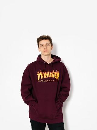 Bluza z kapturem Thrasher Flame HD (maroon)