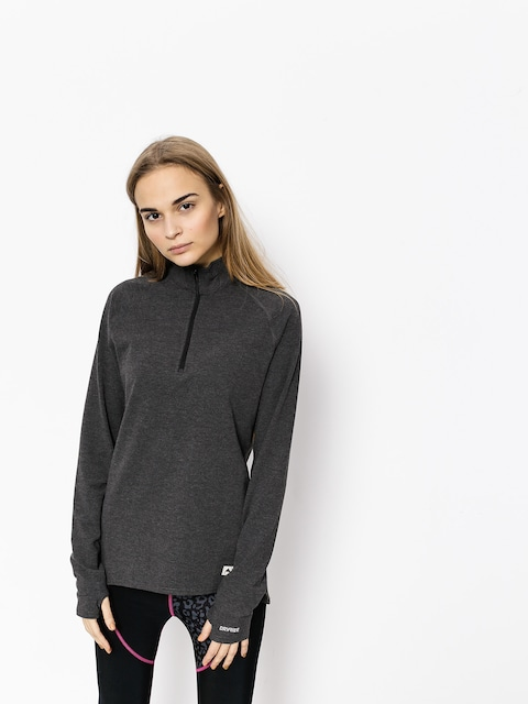 Longsleeve aktywny Burton Expedition 1/4 Zip Wmn (true black heather)