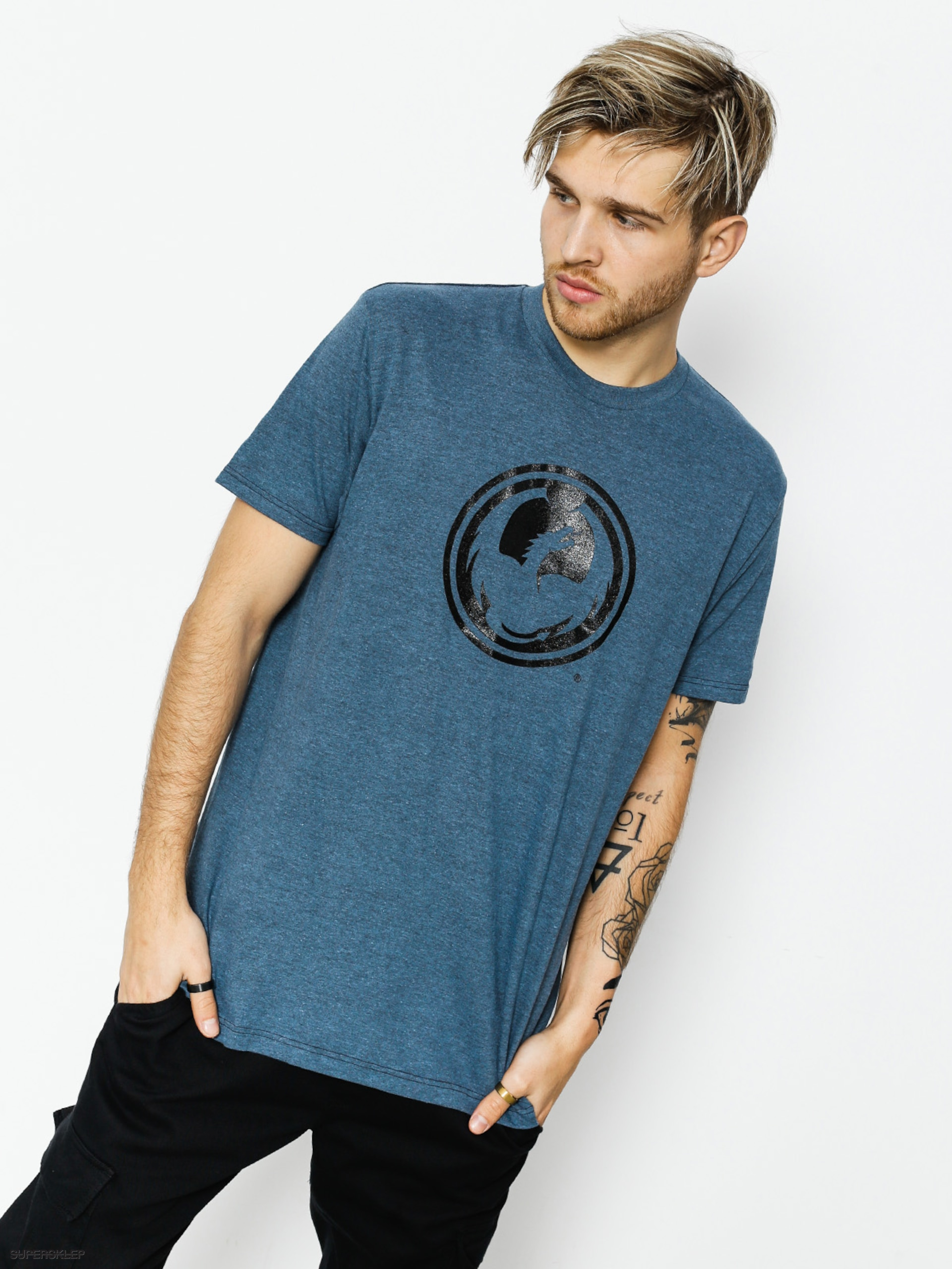 T-shirt Dragon Icon Special (indigo heather)