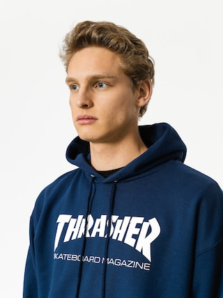 Bluza z kapturem Thrasher Skate Mag HD (navy blue)
