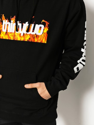 Bluza z kapturem ThirtyTwo Double Box Flames (black)